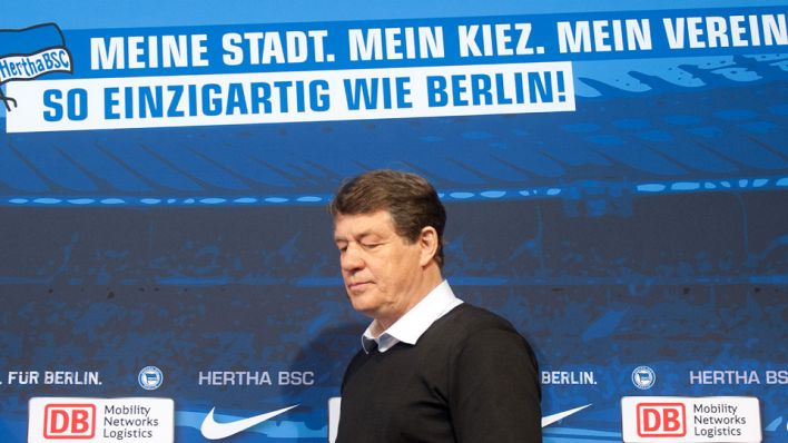 Hertha-Trainer Otto Rehhagel, dpa