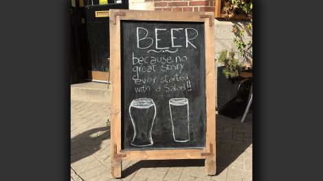 beer - because no great story ever started with a salad; © Gregor Baron