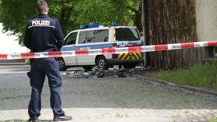 Polizeieinsatz in Zossen nach dem Brandanschlag