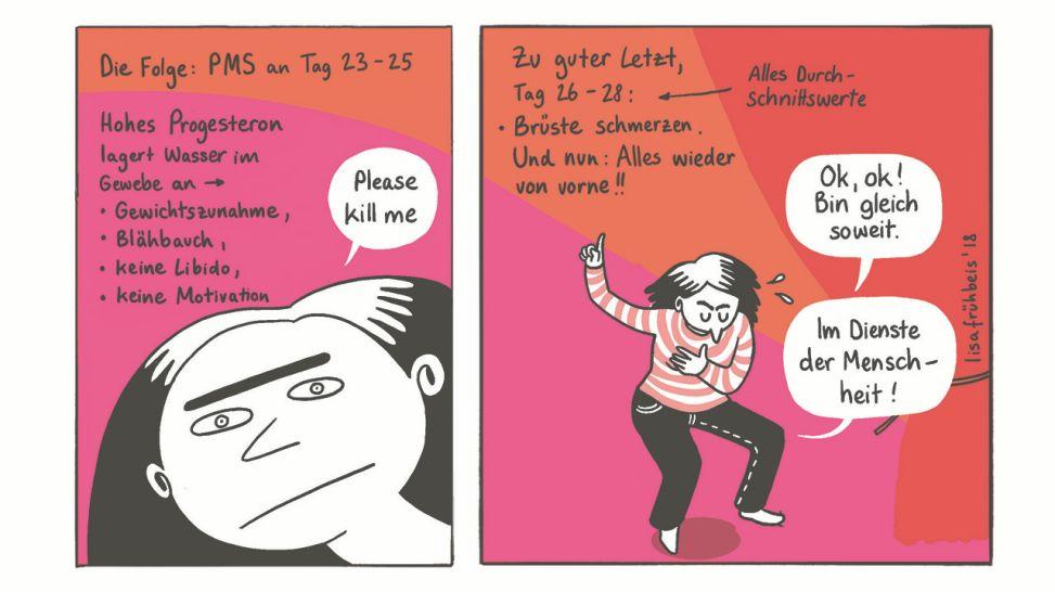 Weibliche Gewichtszunahme Cartoon