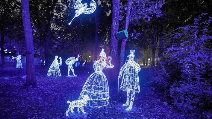 """Mystical Guests von Alexander Reichstein im Magical Festival of Lights Garden 2019""; © Festival of Lights"