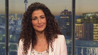 Marwa Eldessouky im Abendschaustudio (Quelle: rbb)