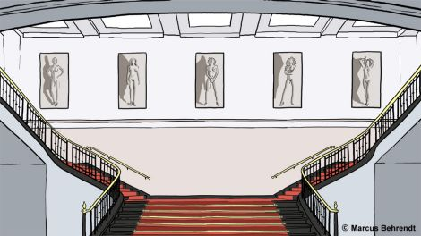 Helmut Newton Stiftung, Illustration Marcus Berendt (Copyright)