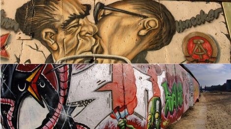 East Side Gallery - der Bruderkuss (Collage), Quelle: Fotograf © Leo Seidel