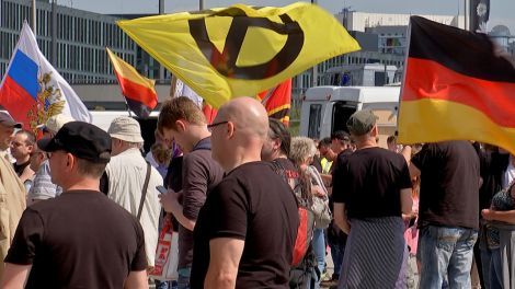 Rechte Demonstranten, Quelle: rbb