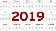 Terminplan 2019 (Quelle: colourbox/rbb)