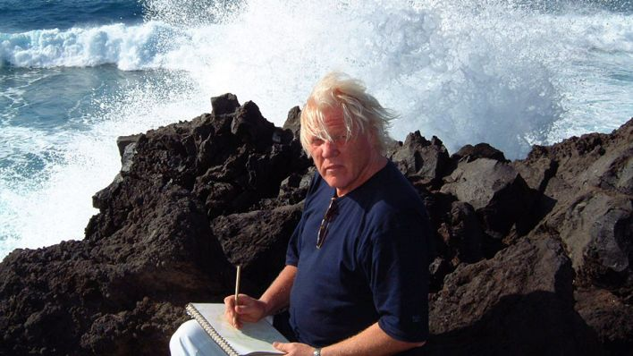 Edgar Froese auf Lanzarote 2003 (Quelle: Tangerine Dream)