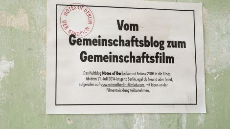 Notes of Berlin - Zettel - Vom Blog zum Film; Quelle: Notes of Berlin - Filmlab