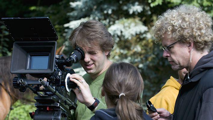 Kameramann hinter den Kulissen