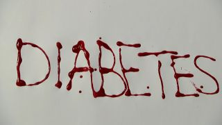 "Schriftzug ""Diabetes"" in roter Farbe (Quelle: rbb)"