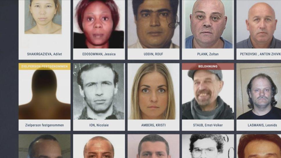 Europol Fahndungsliste