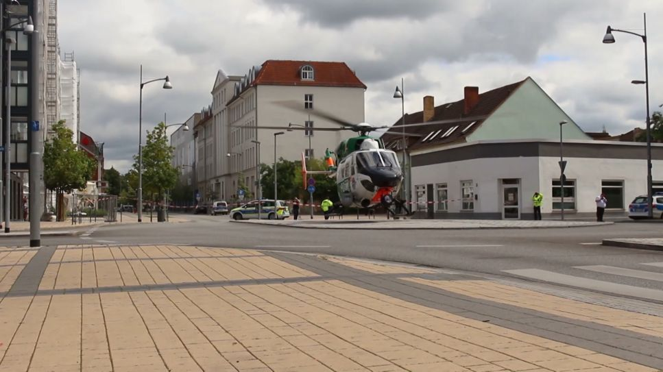 Bombendrohung Rathaus Rathenow (Quelle: rbb)