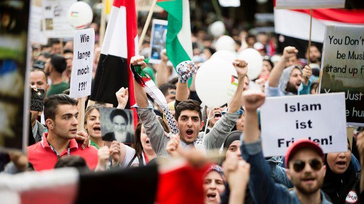 Proteste gegen israelfeindliche Al-Kuds-Demonstration