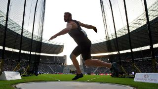 Diskuswerfer Robert Harting im Berliner Olympiastadion. (Quelle: imago/Camera 4)