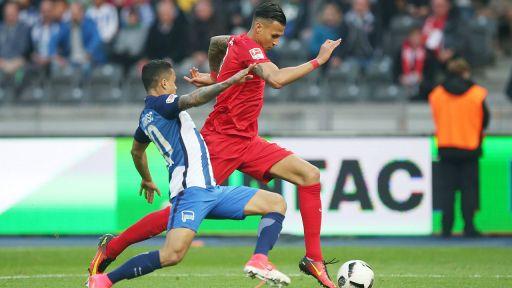 Davie Selke gegen Hertha BSC (Quelle: R.Petzsche / Picture Point / imago)