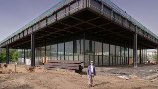 Die Neue Nationalgalerie am Kulturforum Berlin. (Quelle: rbb)
