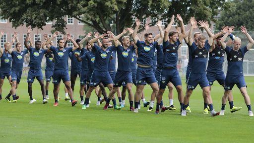 Hertha-Spieler beim Training (Quelle: imago/Popow)