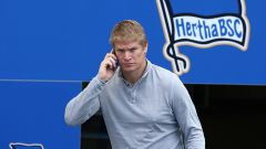 Paul Keuter bei einem Spiel von Hertha BSC. Quelle: imago/Contrast