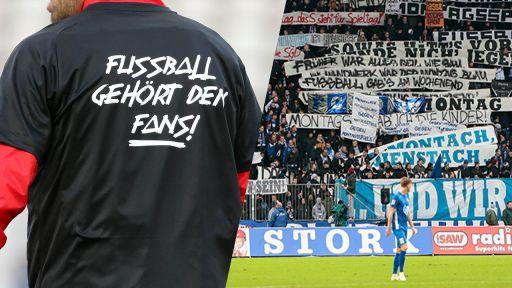 Proteste der Fußballfans (Quelle: imago)