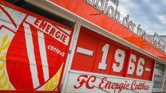 ARCHIV - 26.02.2019, Brandenburg, Cottbus: Der Eingang zum «Stadion der Freundschaft» des 1. FC Energie Cottbus. (Quelle: dpa/Pleul