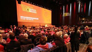 Am Mittwoch fand die Mitgliederversammlung von Union Berlin statt. Quelle: imago images/Contrast