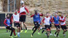 Training in Campoamor: Die Mannschaft von Union Berlin macht sich fit für den Rückrundenstart. / Bild: Matthias Koch