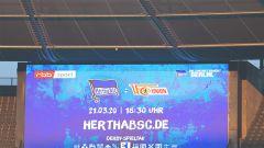 Anzeigetafel im Olympiastadion (imago images/Eibner)