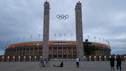 Das Olympiastadion während des DFB-Pokalfinals 2020. Quelle: rbb/Dobers