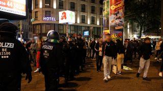 Polizeieinsatz am Rosenthaler Platz in Berlin Mitte. (Quelle: BLP/S. Zilske)