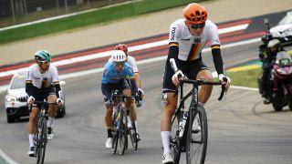 Maximilian Schachmann beim Straßenrennen der Rad-WM (picture alliance)