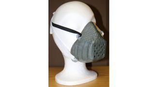 Eine Covid-19-Maske aus Krokodil-Leder (Quelle: dpa/Zoll)