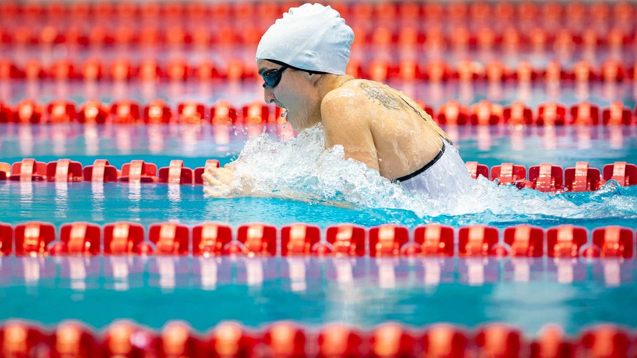 Elena Krawzow aus dem Berliner Schwimmteam / IMAGO / Ralf Kuckuck