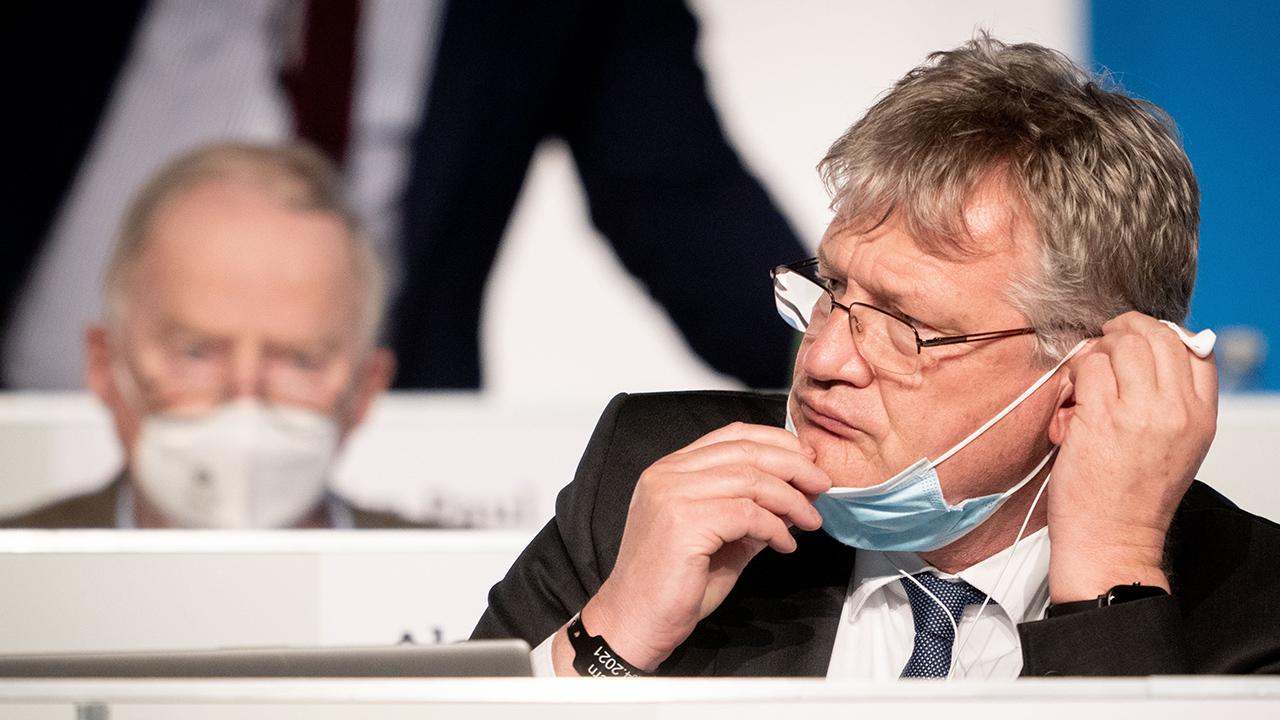 Jörg Meuthen (r), AfD-Bundessprecher