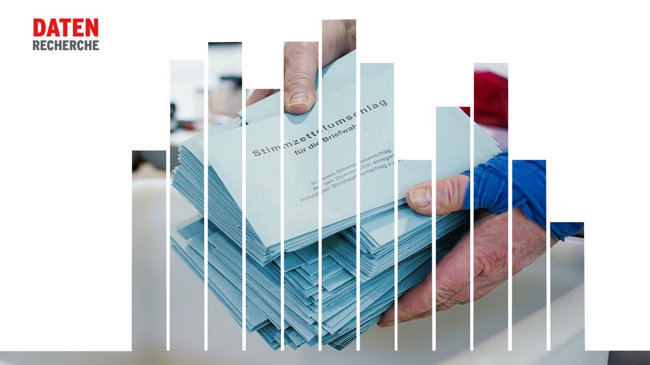 Symbolbild: Eine Wahlhelferin (Quelle: dpa/Uwe Anspach Grafik: rbb|24)