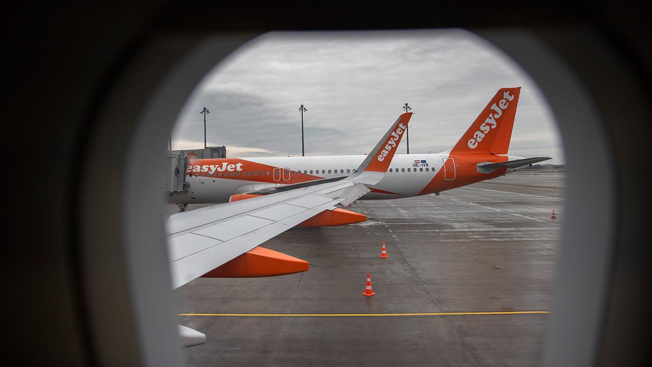 Flugzeuge von Easyjet am BER am 19. Januar 2021 (Quelle: dpa/Emmanuele Contini)
