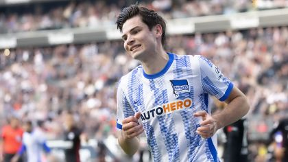 Jurgen Ekkelenkamp beim Bundesligaspiel in Frankfurt (Quelle: picture alliance/dpa/Kessler-Sportfotografie/Jürgen Kessler)