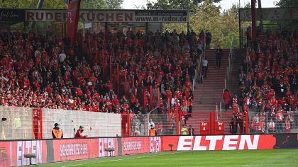 Zuschauer im Stadion an der Alten Försterei. Bild: imago-images/Matthias Koch