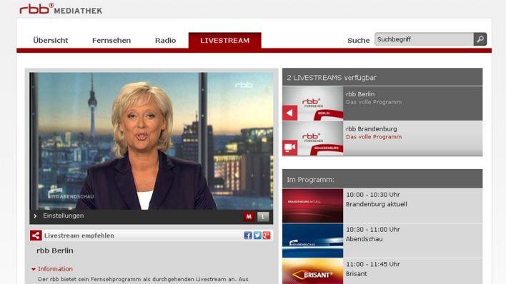 Www.Rbb-Mediathek.De/Livestream
