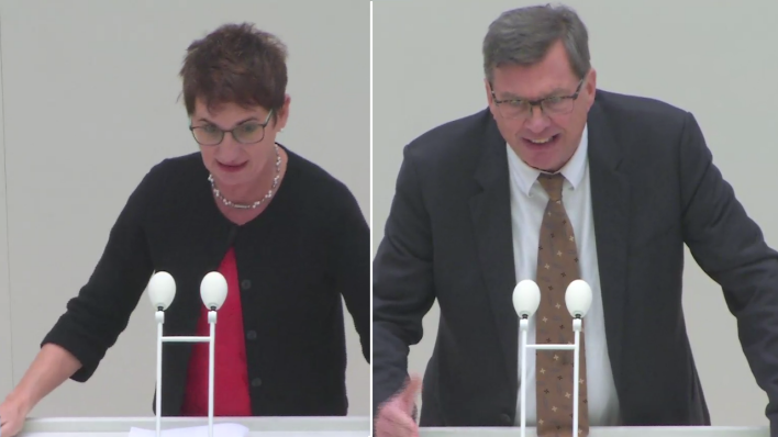 Simona Koß (SPD) vs. Thomas Jung (AfD) (Quelle: rbb)