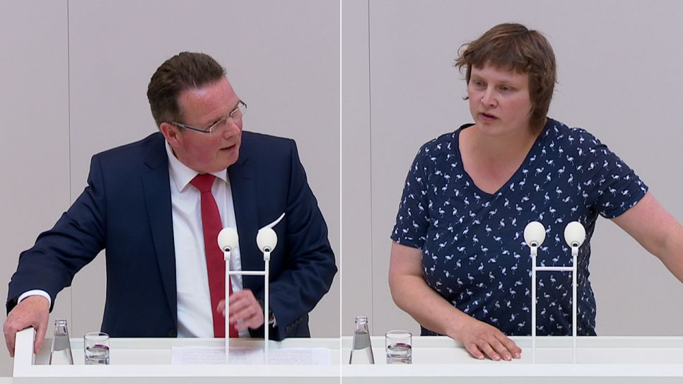 Dierk Homeyer vs. Heide Schinowsky (Quelle: rbb)