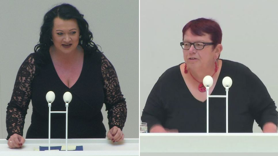 Birgit Bessin vs. Bettina Fortunato (Quelle: rbb)