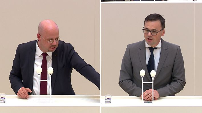 Andreas Kalbitz vs. Jan Redmann (Quelle: rbb)